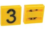 Cyfra Do Obroży, Nr 3 Żółta 45x45mm