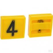 Cyfra Do Obroży, Nr 4 Żółta 45x45mm