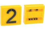 Cyfra Do Obroży, Nr 2 Żółta 45x45mm