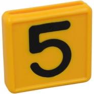 Cyfra Do Obroży, Nr 5 Żółta 45x45mm