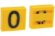 Cyfra Do Obroży, Nr 0 Żółta 45x45mm