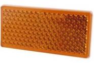 Odblask Prostokątny Przyklejany, Pomarańczowy