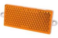 Odblask Prostokątny Przykręcany, Pomarańczowy