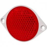 Odblask Okrągły Przykręcany, Czerwony